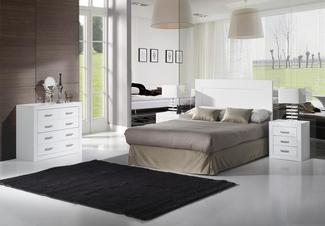 Imagen de Ambiente Dormitorio Kinus-Blanco Lacado