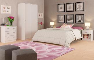 Imagen de Ambiente Dormitorio Matrimonio Blanco Liso