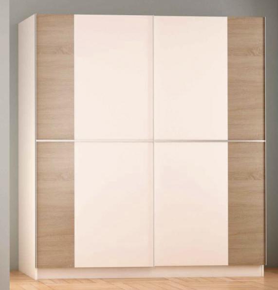 Armario 2 puertas correderas 60 x 180 x 200 cm for Outlet armarios roperos