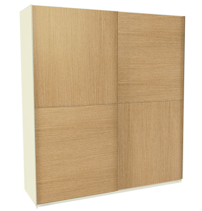 Armario 2 puertas correderas 60 x 180 x 200 cm for Puertas 75 x 200