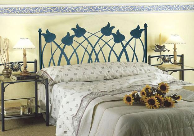 Cabecero cama forja modelo tulipanes - Cabeceros cama de forja ...