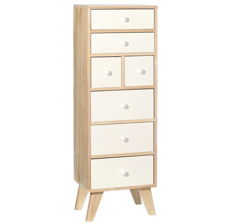 Mueble auxiliar en madera 7 cajones 25 x 35 x 106 cm for Mueble 25 cm ancho